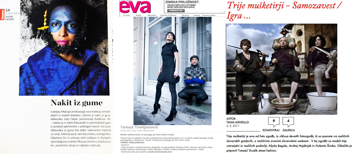 1. Finance, Trendi, 2.Eva., 3. Elle - Tania Mendillo
